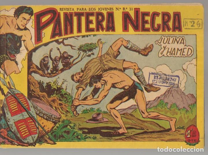 PANTERA NEGRA. Nº 26. JULIANA Y HAMED. EDITORIAL MAGA, 1958. ¡¡ ORIGINAL !!.(C/A101) (Tebeos y Comics - Maga - Pantera Negra)