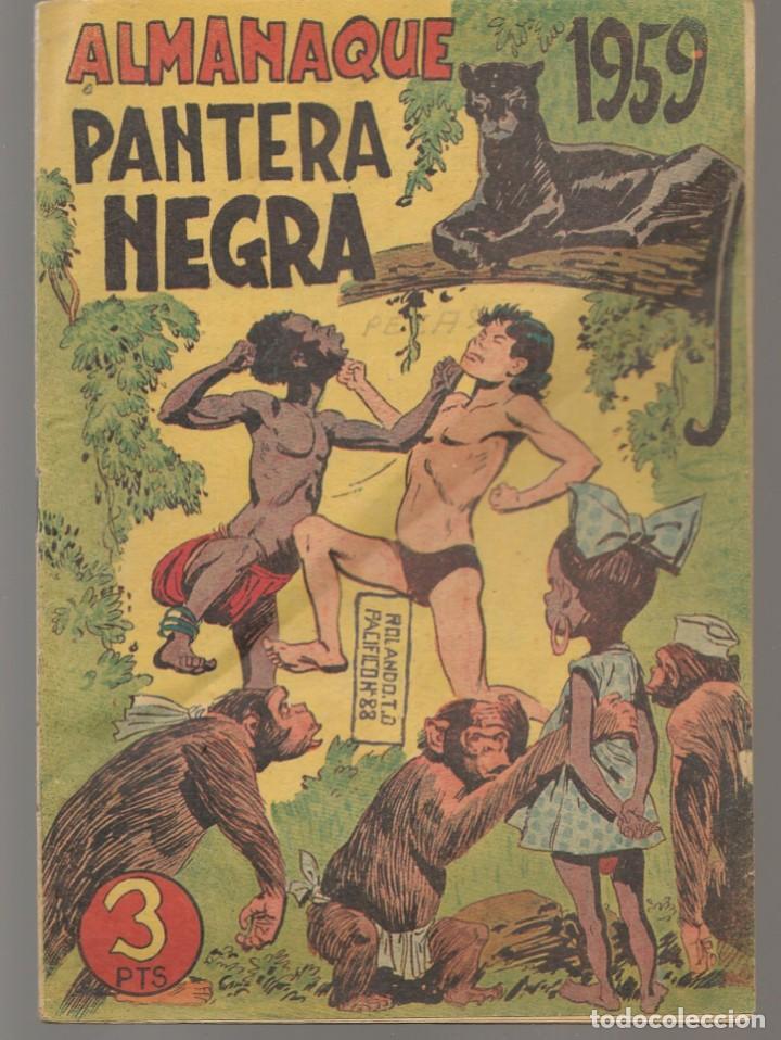 PANTERA NEGRA. ALMANAQUE PARA 1959. EDITORIAL MAGA. ¡¡ORIGINAL!!. /C/A100) (Tebeos y Comics - Maga - Pantera Negra)