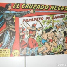 Tebeos: EL CRUZADO NEGRO 49.FACSIMIL APAISADO.EDITORIAL MAGA,1961,IMPECABLE.. Lote 293991363