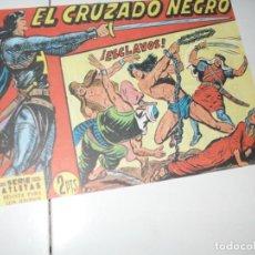 Tebeos: EL CRUZADO NEGRO 48.FACSIMIL APAISADO.EDITORIAL MAGA,1961,IMPECABLE.. Lote 293991388