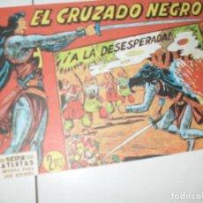 Tebeos: EL CRUZADO NEGRO 39.FACSIMIL APAISADO.EDITORIAL MAGA,1961,IMPECABLE.. Lote 293991783