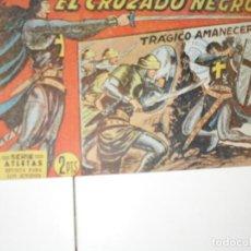 Tebeos: EL CRUZADO NEGRO 24.ORIGINAL APAISADO.EDITORIAL MAGA,1961,IMPECABLE.. Lote 293992108