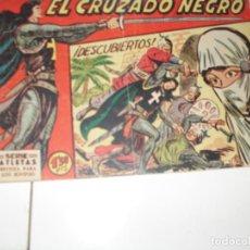 Tebeos: EL CRUZADO NEGRO 4.ORIGINAL APAISADO.EDITORIAL MAGA,1961,IMPECABLE.. Lote 293992493