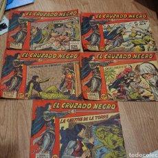 Tebeos: EL CRUZADO NEGRO, MAGA, CINCO PRIMEROS NÚMEROS, ORIGINALES, VED FOTOS. Lote 295722903