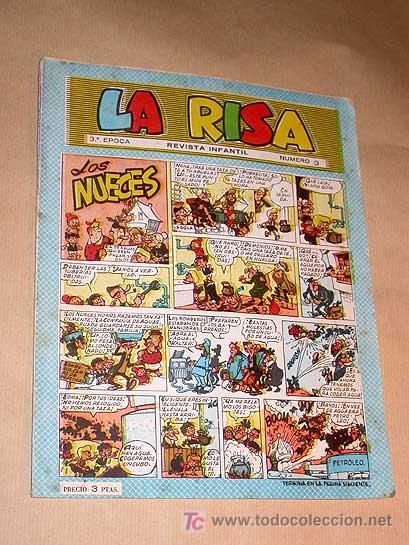 LA RISA TERCERA ÉPOCA Nº 3. EDICIONES MARCO 1965. RIZO. J. RIPOLL. E. BOIX. CASTILLO. FLEETWAY.+++++ (Tebeos y Comics - Marco - La Risa)