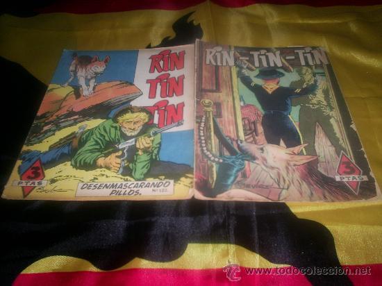 LOTE DE DOS TEBEOS DE RIN TIN TIN , AÑOS 50 (Tebeos y Comics - Marco - Rin-Tin-Tin)