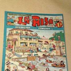 Tebeos: LA RISA, 2ª ÉPOCA, Nº 9, VERANEARÁ Y NO SE CANSARÁ EN. EDITORIAL MARCO, 1952. CON DIORAMA Y CROMO. +. Lote 26060095