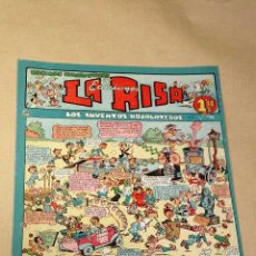 Tebeos: LA RISA, 2ª ÉPOCA, Nº 11, LOS INVENTOS HOJALATEROS. EDITORIAL MARCO 1952. CON DIORAMA Y CROMO FÚTBOL. Lote 26060096