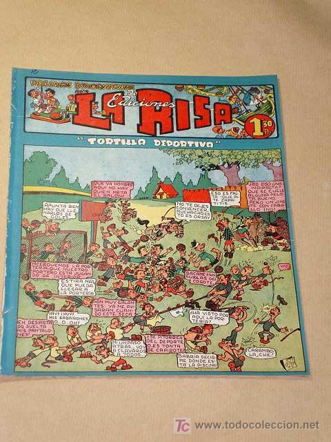 LA RISA, 2ª ÉPOCA, Nº 12, TORTILLA DEPORTIVA. EDITORIAL MARCO, 1952. CON DIORAMA Y CROMO FÚTBOL.++ (Tebeos y Comics - Marco - La Risa)