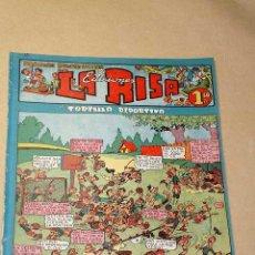 Tebeos: LA RISA, 2ª ÉPOCA, Nº 12, TORTILLA DEPORTIVA. EDITORIAL MARCO, 1952. CON DIORAMA Y CROMO FÚTBOL.++. Lote 26060097