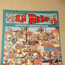 Tebeos: LA RISA, 2ª ÉPOCA, Nº 14, GALLETAS VITAMINIZADAS. EDITORIAL MARCO, 1952. CON DIORAMA Y CROMO FÚTBOL.. Lote 26095316