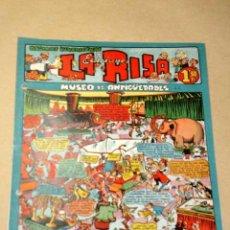 Tebeos: LA RISA, 2ª ÉPOCA, Nº 22, MUSEO DE ANTIGÜEDADES. EDITORIAL MARCO, 1953. CON DIORAMA Y CROMO FÚTBOL.+. Lote 26095320
