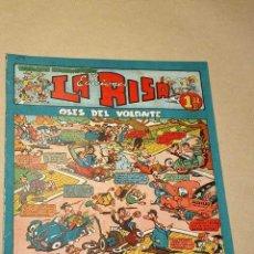 Tebeos: LA RISA, 2ª ÉPOCA, Nº 24, ASES DEL VOLANTE. EDITORIAL MARCO, 1953. CON DIORAMA Y CROMO FÚTBOL.+++. Lote 26079859