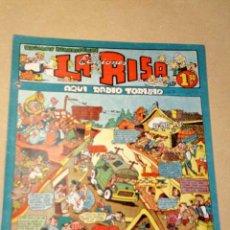 Tebeos: LA RISA, 2ª ÉPOCA, Nº 25, AQUÍ RADIO TORIBIO. EDITORIAL MARCO, 1953. CON DIORAMA Y CROMO FÚTBOL.+++. Lote 26079860