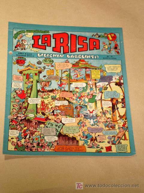 LA RISA, 2ª ÉPOCA, Nº 31, LILICHIN LABELINTO. EDITORIAL MARCO, 1953. CON DIORAMA Y CROMO FÚTBOL.+++ (Tebeos y Comics - Marco - La Risa)