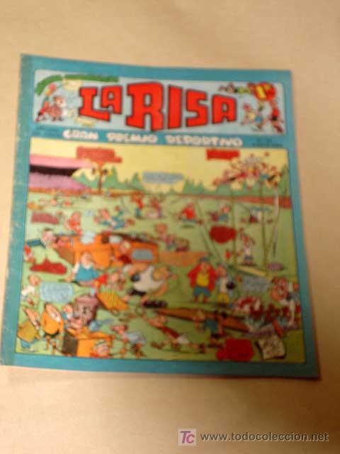LA RISA, 2ª ÉPOCA, Nº 35, GRAN PREMIO DEPORTIVO. EDITORIAL MARCO, 1953. CON DIORAMA Y CROMO FÚTBOL.+ (Tebeos y Comics - Marco - La Risa)