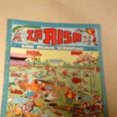 Tebeos: LA RISA, 2ª ÉPOCA, Nº 35, GRAN PREMIO DEPORTIVO. EDITORIAL MARCO, 1953. CON DIORAMA Y CROMO FÚTBOL.+. Lote 26038181