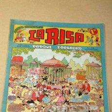 Tebeos: LA RISA, 2ª ÉPOCA, Nº 38, PARQUE ZOOLÓGICO. EDITORIAL MARCO, 1953. CON DIORAMA Y CROMO FÚTBOL.+++. Lote 26038183