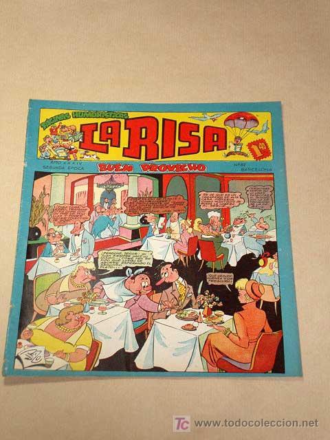 LA RISA, 2ª ÉPOCA, Nº 82, BUEN PROVECHO. EDITORIAL MARCO, 1955. IBÁÑEZ, OSETE, RIZO, MESTRE.+++ (Tebeos y Comics - Marco - La Risa)