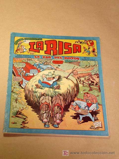 LA RISA, 2ª ÉPOCA, Nº 93, LA ERA DEL MOTOR. EDITORIAL MARCO, 1955. IBÁÑEZ, MESTRE, OSETE, RIZO.++ (Tebeos y Comics - Marco - La Risa)