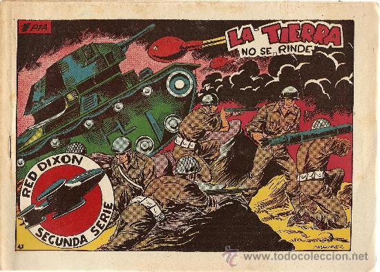 RED DIXON Nº 47 SEGUNDA SERIE (ORIGINAL) EDITORIAL MARCO 1955 (Tebeos y Comics - Marco - Red Dixon)