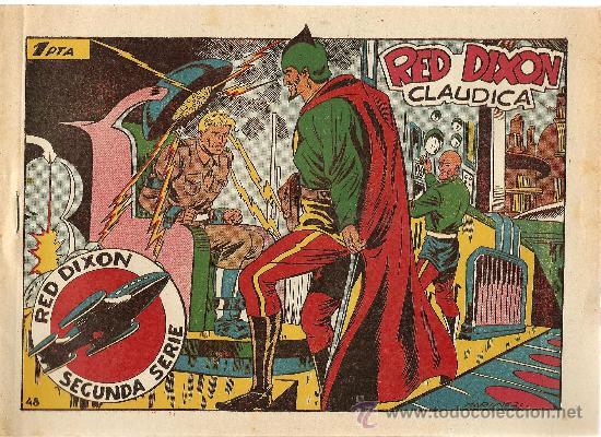 RED DIXON Nº 48 SEGUNDA SERIE (ORIGINAL) EDITORIAL MARCO 1955 (Tebeos y Comics - Marco - Red Dixon)