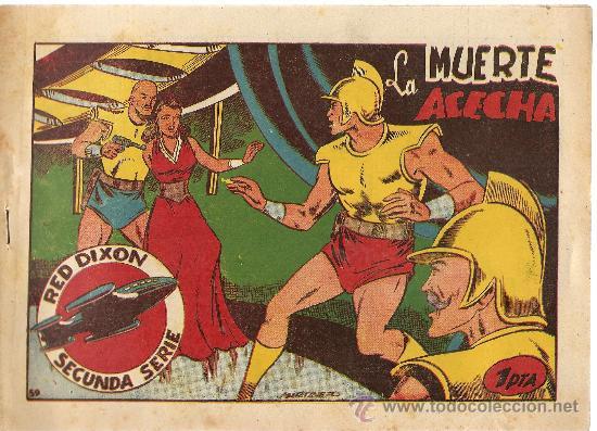 RED DIXON Nº 59 SEGUNDA SERIE (ORIGINAL) EDITORIAL MARCO 1955 (Tebeos y Comics - Marco - Red Dixon)