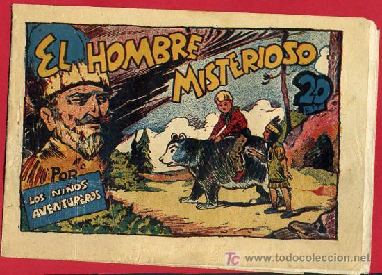 LOS NIÑOS AVENTUREROS , EDITORIAL MARCO , EL HOMBRE MISTERIOSO. 20 CTS. (Tebeos y Comics - Marco - Otros)