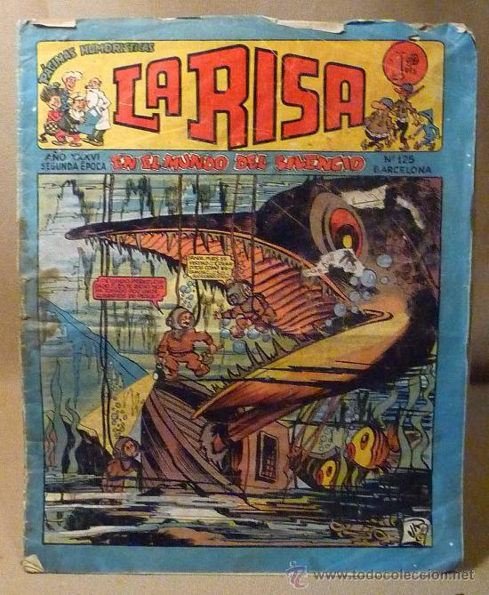 COMIC, LA RISA, EN EL MUNDO DEL SILENCIO, Nº 125, EDITORIAL, MARCO, BARCELONA (Tebeos y Comics - Marco - La Risa)