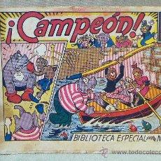 Tebeos: TBO, COMIC, BIBLIOTECA ESPECIAL PARA NIÑOS, CAMPEON, HIPO, GRAFICAS MARCO, 1940S. Lote 23349436