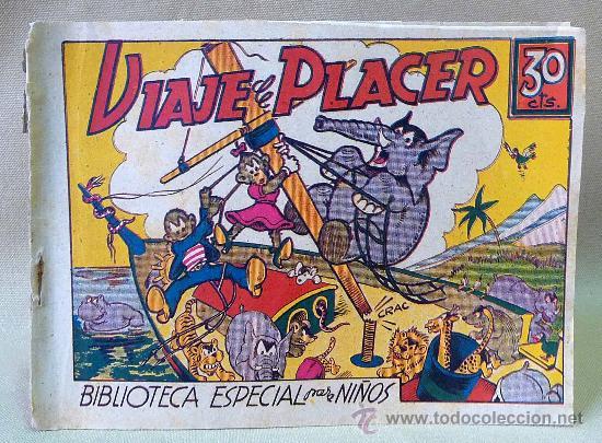 TBO, COMIC, BIBLIOTECA ESPECIAL PARA NIÑOS, VIAJE DE PLACER, HIPO, GRAFICAS MARCO, 1940S (Tebeos y Comics - Marco - Hipo (Biblioteca especial))