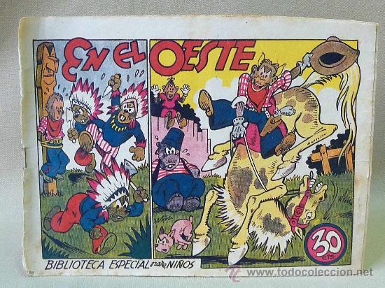 TBO, COMIC, BIBLIOTECA ESPECIAL PARA NIÑOS, EN EL OESTE, HIPO, GRAFICAS MARCO, 1940S (Tebeos y Comics - Marco - Hipo (Biblioteca especial))
