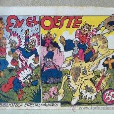 TBO, COMIC, BIBLIOTECA ESPECIAL PARA NIÑOS, EN EL OESTE, HIPO, GRAFICAS MARCO, 1940s