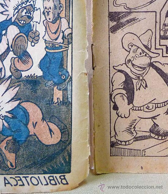 Tebeos: TBO, COMIC, BIBLIOTECA ESPECIAL PARA NIÑOS, EN EL OESTE, HIPO, GRAFICAS MARCO, 1940s - Foto 2 - 23359443