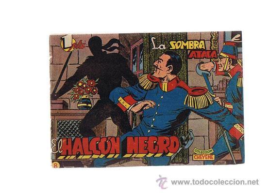 EL HALCÓN NEGRO Nº 8. MARCO 1959. (Tebeos y Comics - Marco - Otros)