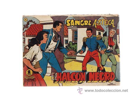 EL HALCÓN NEGRO Nº 4. MARCO 1959. (Tebeos y Comics - Marco - Otros)