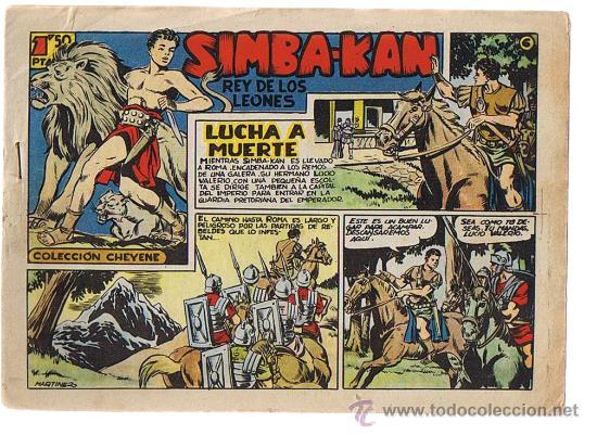 SIMBA KAN Nº 6. MARCO 1960. (Tebeos y Comics - Marco - Otros)