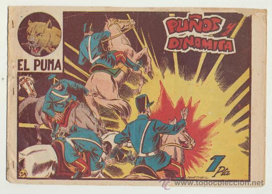 EL PUMA Nº 54. MARCO 1952. (Tebeos y Comics - Marco - Otros)