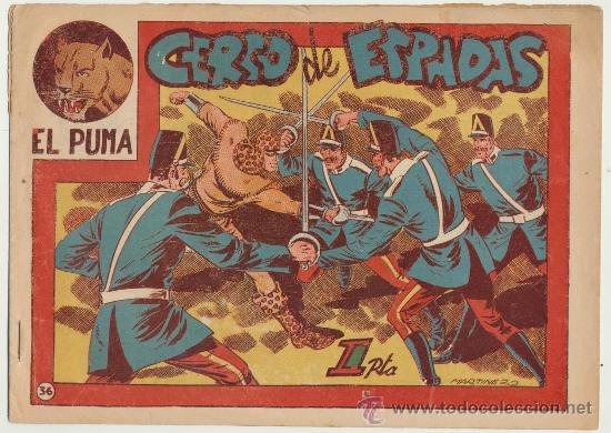 EL PUMA Nº 36. MARCO 1952. (Tebeos y Comics - Marco - Otros)