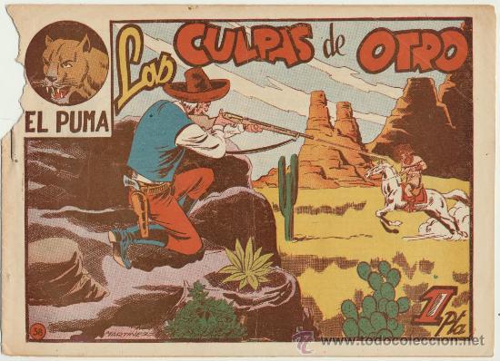 EL PUMA Nº 38. MARCO 1952. (Tebeos y Comics - Marco - Otros)