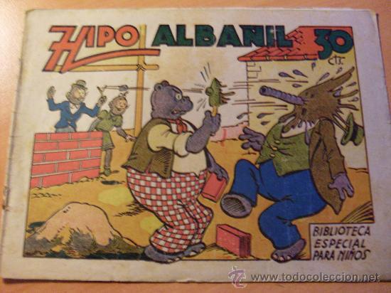 HIPO BIBLIOTECA ESPECIAL PARA NIÑOS . ALBAÑIL ( ORIGINAL ED. MARCO ) ( ES ) (Tebeos y Comics - Marco - Hipo (Biblioteca especial))
