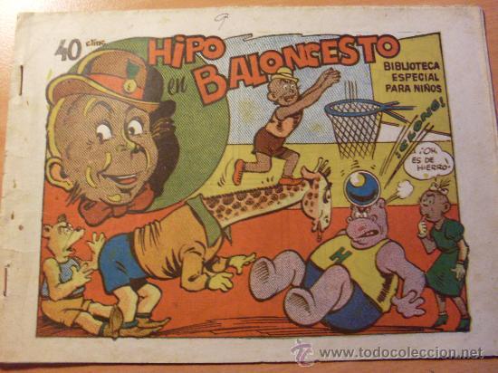 HIPO BIBLIOTECA ESPECIAL PARA NIÑOS . HIPO EN BALONCESTO ( ORIGINAL ED. MARCO 40 CTS ) ( ES ) (Tebeos y Comics - Marco - Hipo (Biblioteca especial))