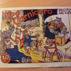 Tebeos: HIPO . HIPO CARNICERO . BIBLIOTECA ESPECIAL PARA NIÑOS ( ORIGINAL ED. MARCO 30 CTS ) ( ES ). Lote 26205784