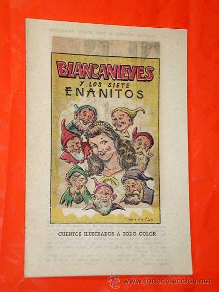 BLANCANIEVES Y LOS 7 ENANITOS POR FRANCISCO DARNIS. EDITORIAL MARCO AÑOS 40. CUENTO. +++ (Tebeos y Comics - Marco - Otros)