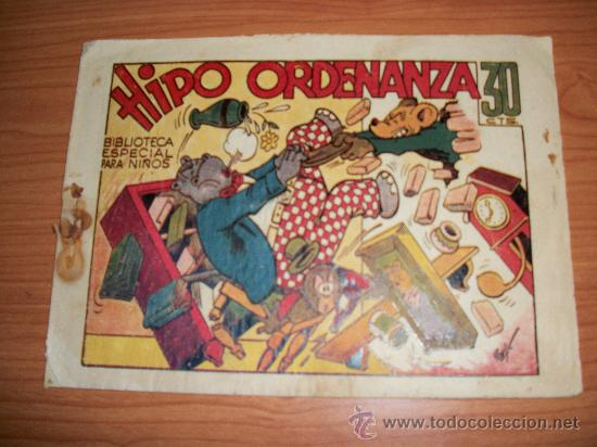 HIPO ORDENANZA BIBLIOTECA PARA NIÑOS ORIGINAL ED. MARCO (Tebeos y Comics - Marco - Hipo (Biblioteca especial))