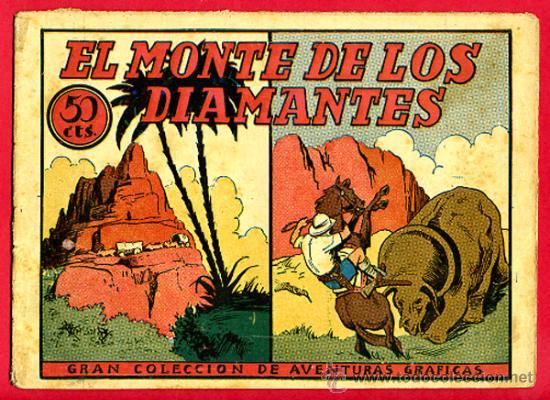 EL MONTE DE LOS DIAMANTES , AVENTURAS GRAFICAS , EDITORIAL MARCO , ORIGINAL , C24 (Tebeos y Comics - Marco - Otros)