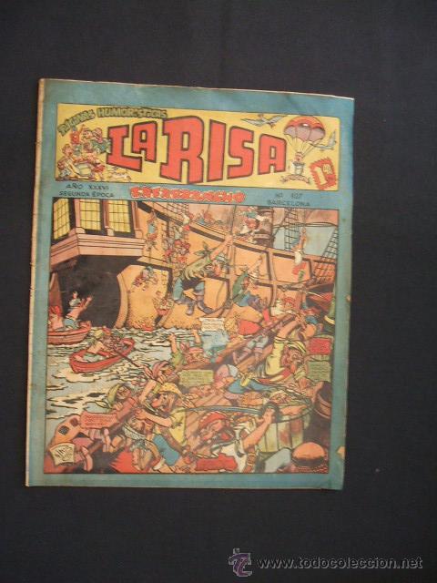 REVISTA INFANTIL - LA RISA - SEGUNDA EPOCA - NUMERO 107 - EDITORIAL MARCO - (Tebeos y Comics - Marco - La Risa)