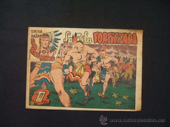 LUCHA DE RAZA PIELES ROJAS CONTRA BLANCOS - LA ISLA FORTIFICADA - NUMERO 21 - EDIT. MARCO - ORIGINAL (Tebeos y Comics - Marco - Otros)