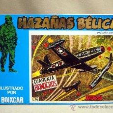 Tebeos: COMIC, HAZAÑAS BELICAS, CUARENTA BANDERAS, MARCO IBERICA, 1973, 4 NUMEROS, Nº 137, 138, 139 Y 140. Lote 28686557