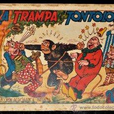 Tebeos: COMIC ANTIGUO LA TRAMPA DE TONTOLOTE. COLECCION ACROBATICA INFANTIL. . Lote 30078995